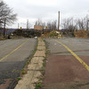 Now standing behind the north barrier, looking north (toward Centralia). This is the original Route 61.