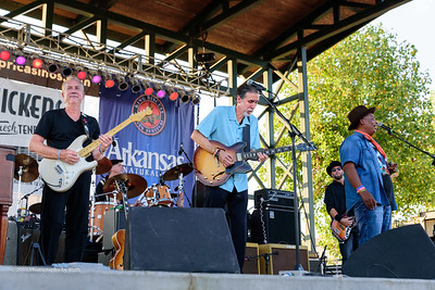 10-06-2018 - Andy T  & Alabama Mike with Anson Funderburgh - King Biscuit Blues Festival #31