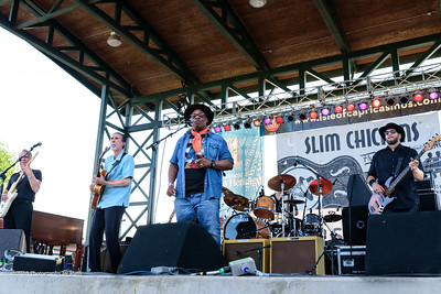 10-06-2018 - Andy T  & Alabama Mike with Anson Funderburgh - King Biscuit Blues Festival #2