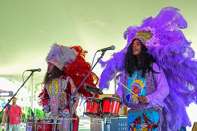 05-03-2015 - Cha Wa Mardi Gras Indian Funk Band - Pensacola Crawfish Fest #39