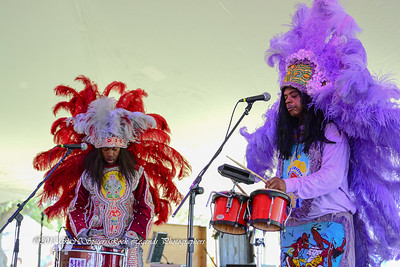 05-03-2015 - Cha Wa Mardi Gras Indian Funk Band - Pensacola Crawfish Fest #55