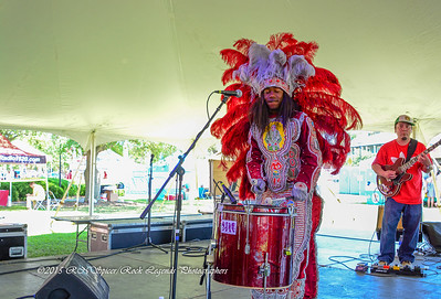 05-03-2015 - Cha Wa Mardi Gras Indian Funk Band - Pensacola Crawfish Fest #22