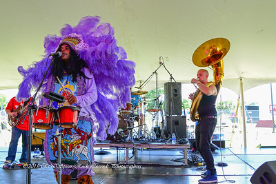 05-03-2015 - Cha Wa Mardi Gras Indian Funk Band - Pensacola Crawfish Fest #47