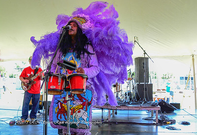 05-03-2015 - Cha Wa Mardi Gras Indian Funk Band - Pensacola Crawfish Fest #23