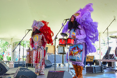 05-03-2015 - Cha Wa Mardi Gras Indian Funk Band - Pensacola Crawfish Fest #24