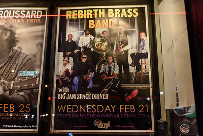 02-21-2018 - Rebirth Brass Band Poster - Vinyl Music Hall #2