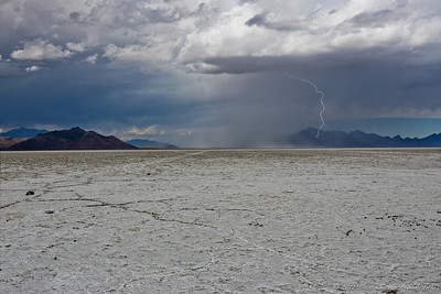 Storm at the Edge of Great Salt Lake, Utah, USA