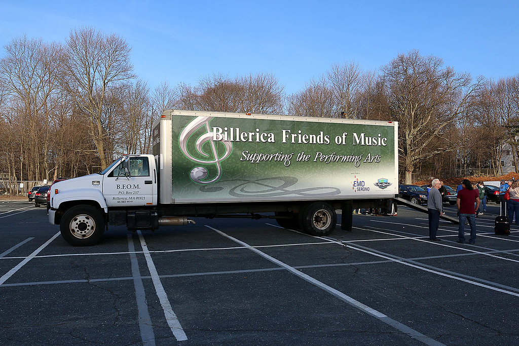. The Billerica High School\'s Billerica Friends of Music truck that will be taking all the equipment needed for the students as they play in Dayton Ohio this week. SUN/JOHN LOVE