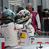 Lausitzring (GER) 19th May 2018. BMW Motorsport, Race 03, 3rd Place Driver Philipp Eng (AUT). and 2nd Place Driver Timo Glock (GER).