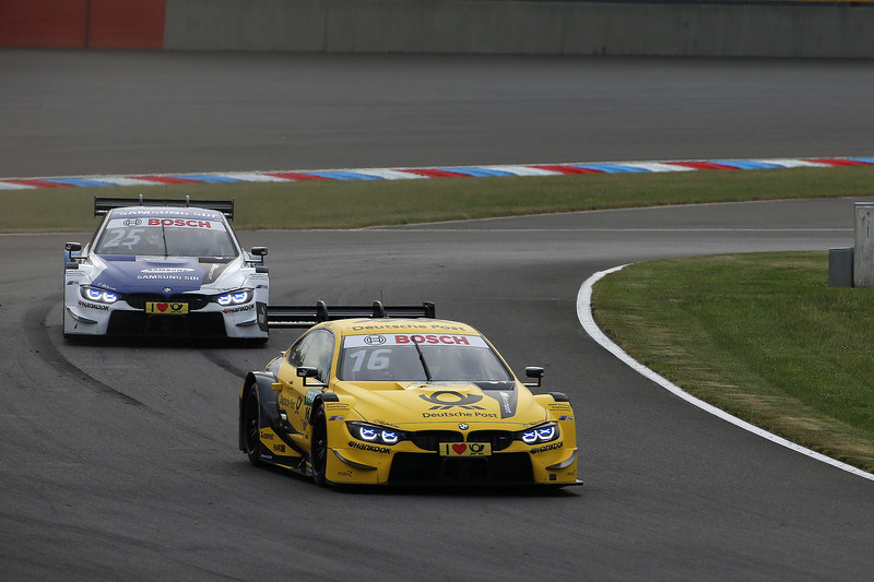 Lausitzring (GER) 19th May 2018. BMW Motorsport, Timo Glock (GER) DEUTSCHE POST BMW M4 DTM and Philipp Eng (AUT) SAMSUNG BMW M4 DTM.