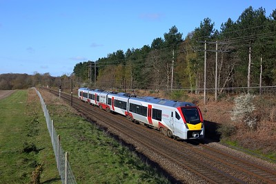 755406 working 2W08 0850 Harwich International to Cambridge at Belstead on 11 April 2021  GA, Class755, GEML