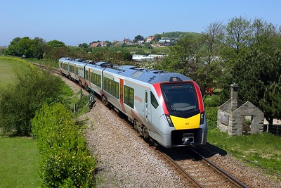 755407 working 2S15 1247 Sheringham to Norwich at Beeston Regis, Sheringham on 31 May 2021  Class755, GreaterAnglia, SheringhamBranch