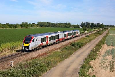 755334 works the 2R23 1628 Felixstowe to Ipswich at Morston Hall Road on Felixstowe line on 15 June 2020  GreaterAnglia, Class745, Felixstoweline