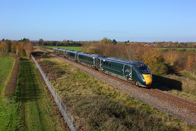 800034 working 1P26 1058 Great Malvern to London Paddington at Lower Moor on 4 November 2020  GWR, Class800, CotswoldLine