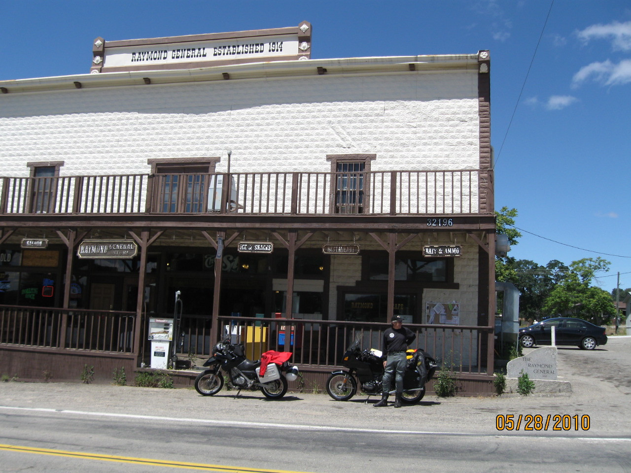 Nicholas K. Brown outside the general store.