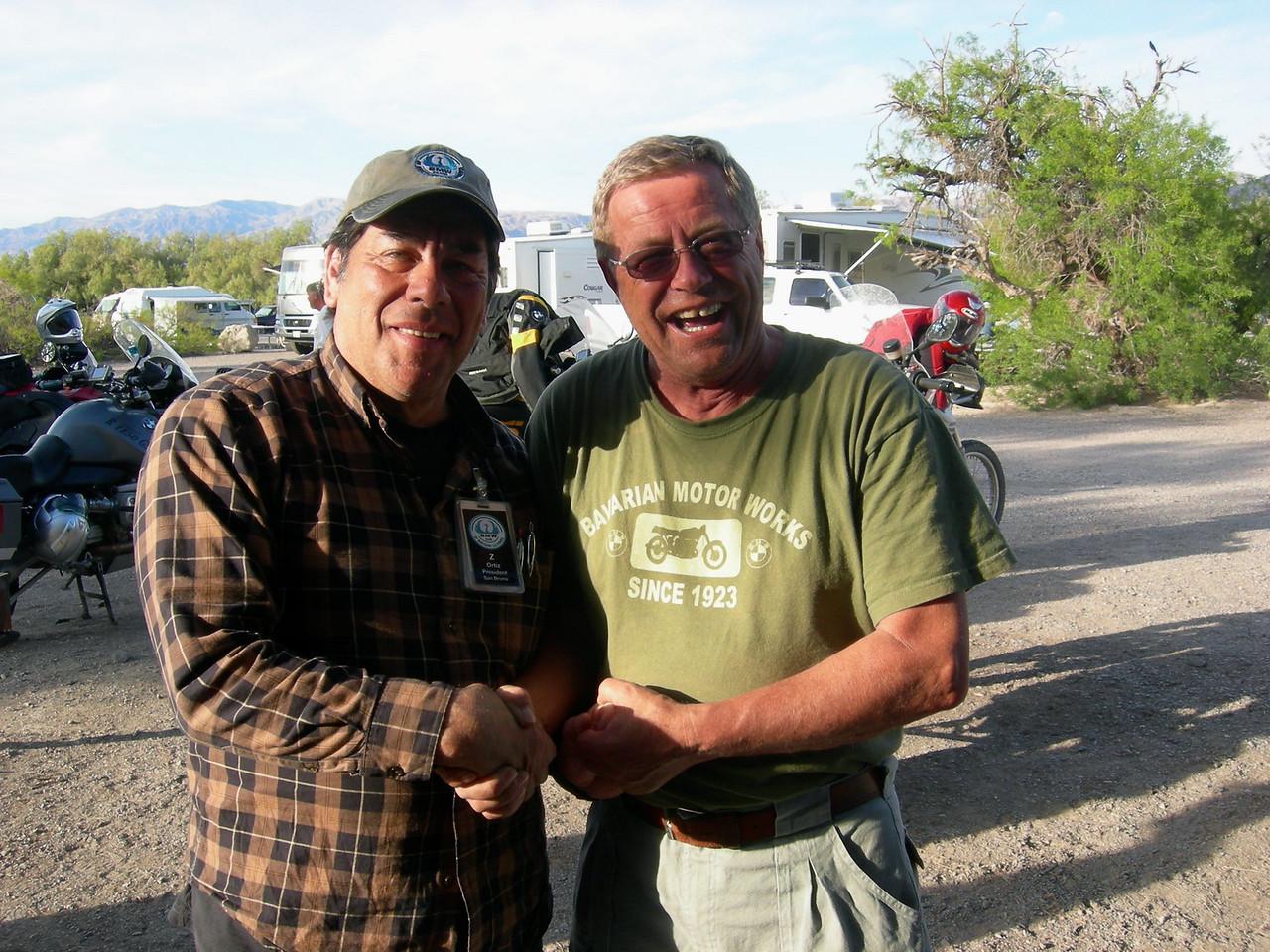 Jim Luke receives his 20-year membership pin.