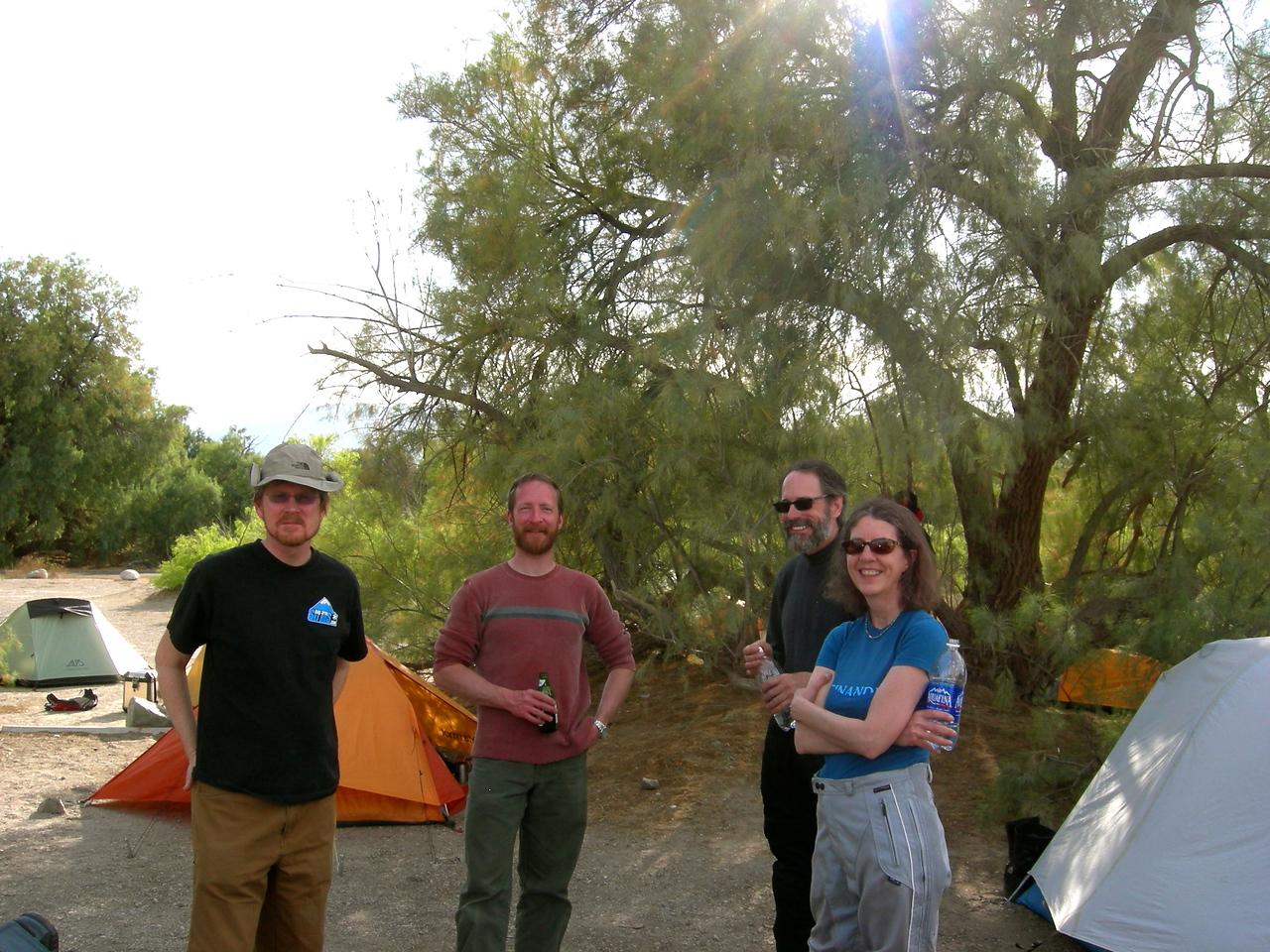 Cliff Dunn, Warren Barnes, Mark & Sarah Roos.