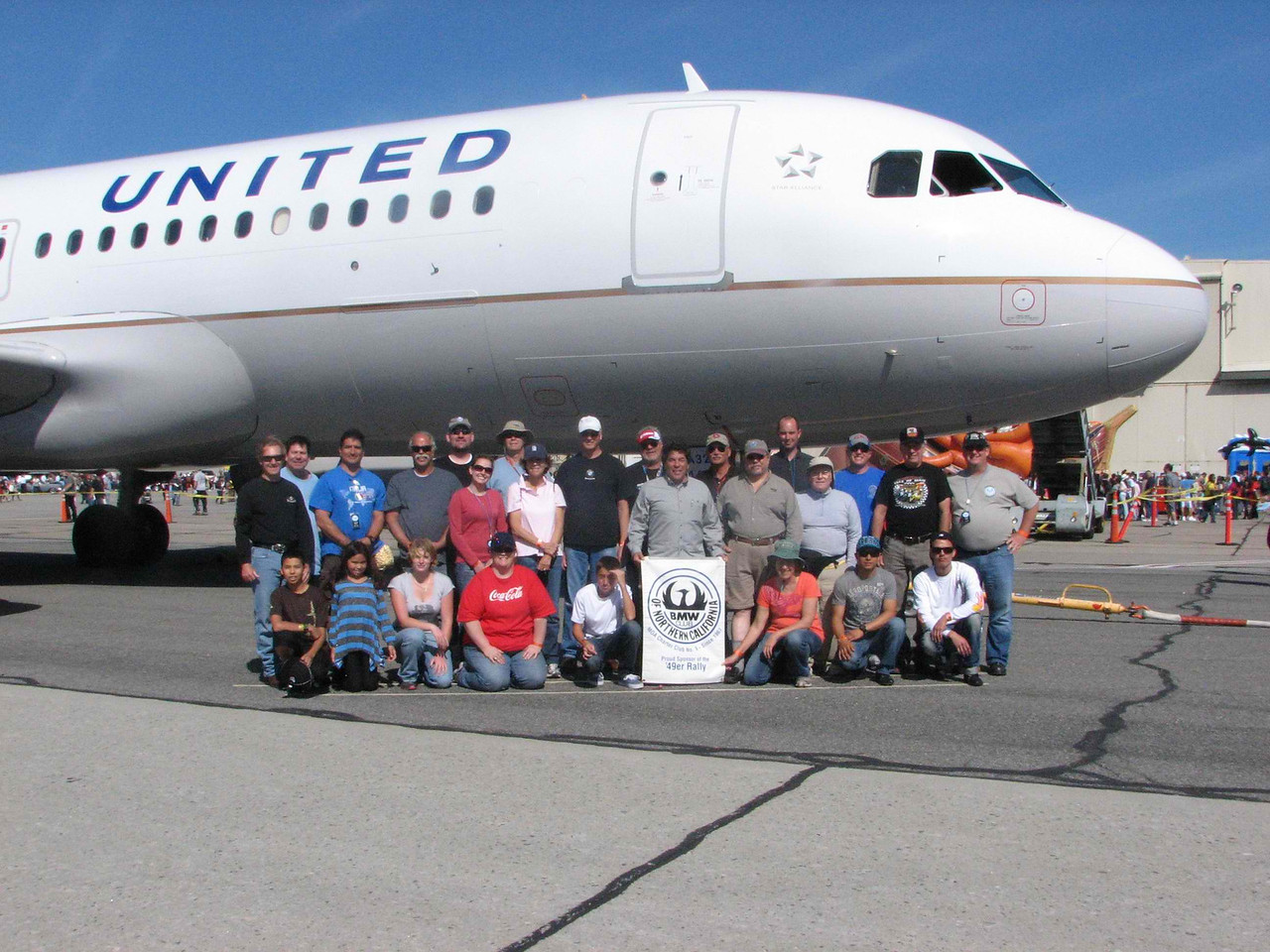 Team Norcal before the plane pull. The Airbus A320 was pulled 20 feet in 8.05 seconds.