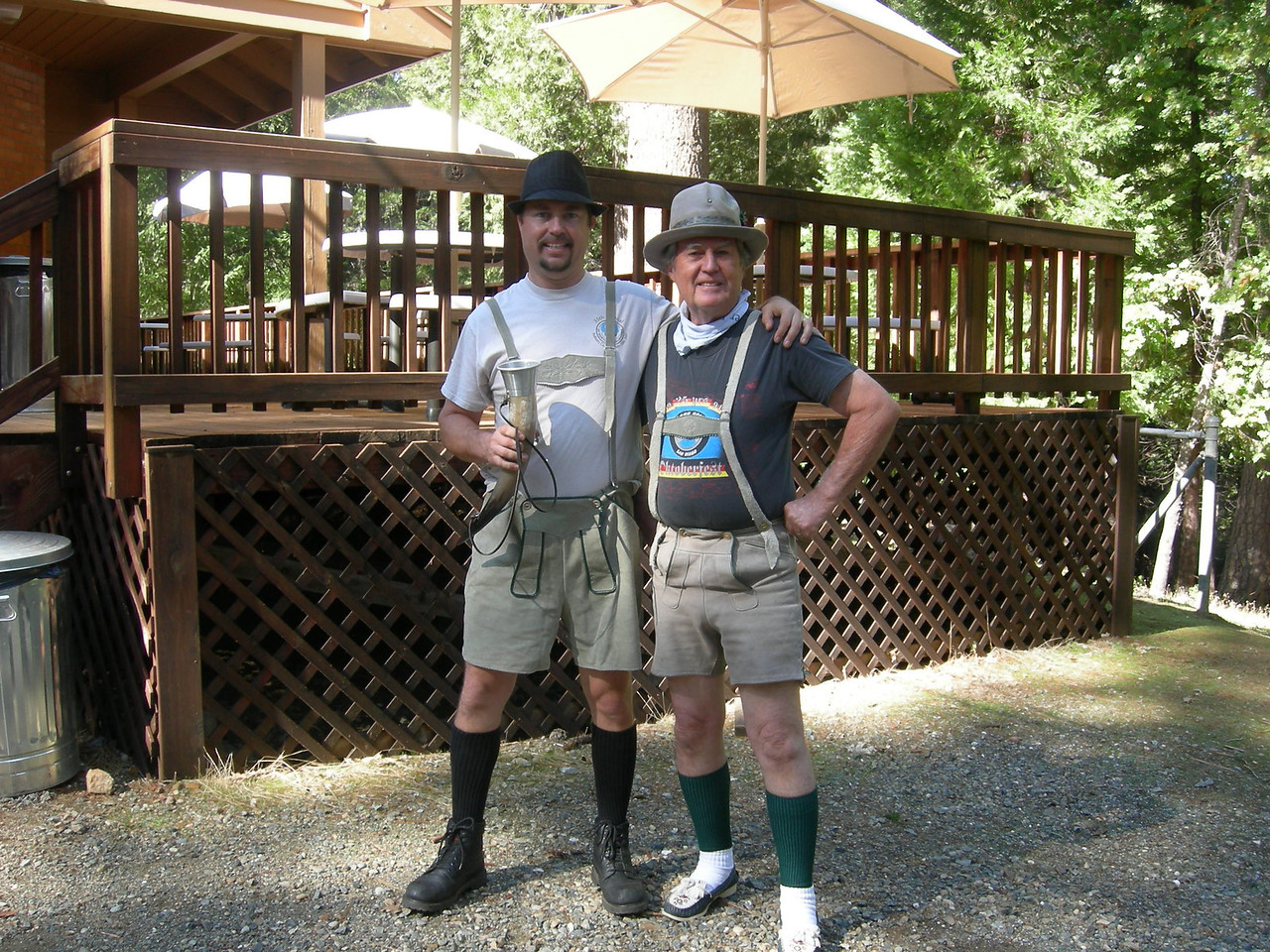 The Huntzingers, Mike & Alan, get in the Oktoberfest spirit.