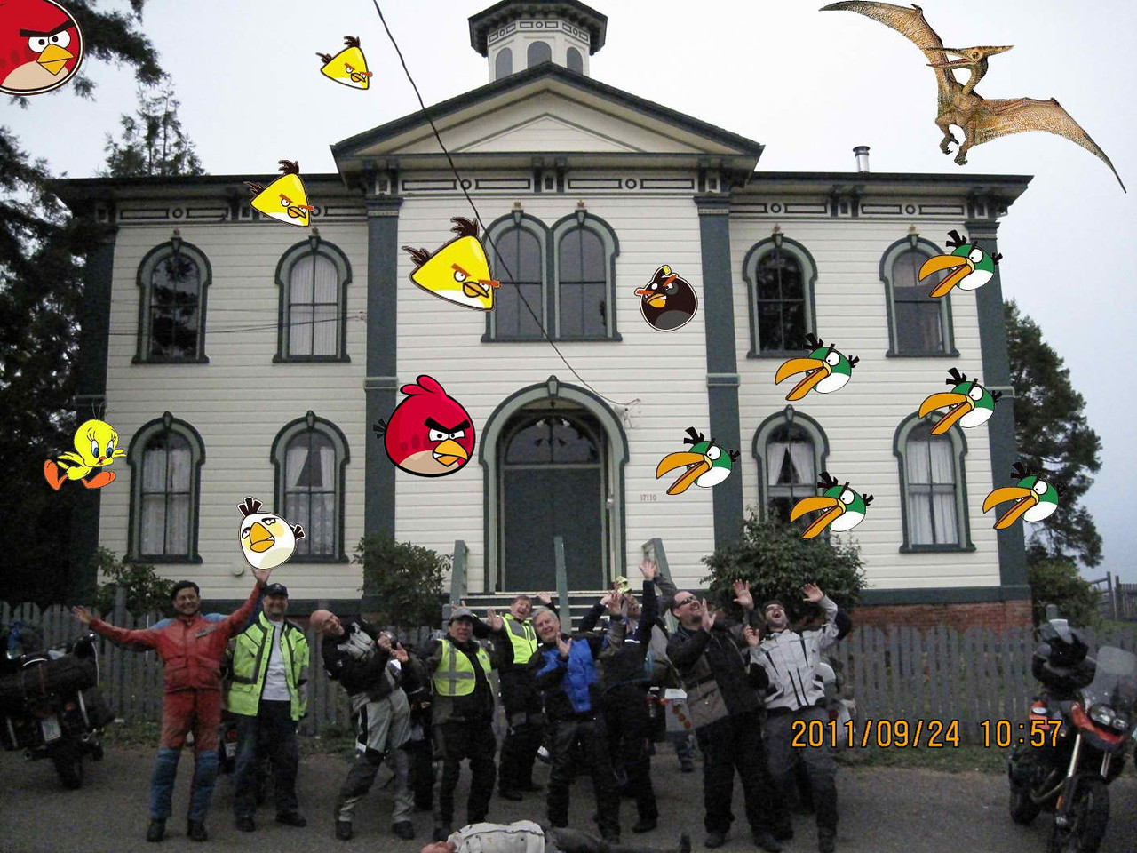 The stop at Potters Schoolhouse turned angry when the birds showed up. (Photo: Lee Blake)
