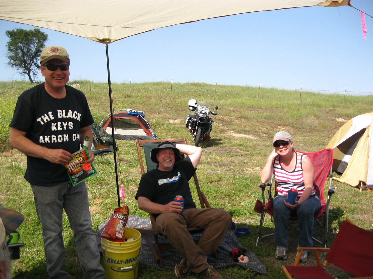 "Mik Herman, Peter Oxenbol & Wendy and the ""Premium Bucket""."