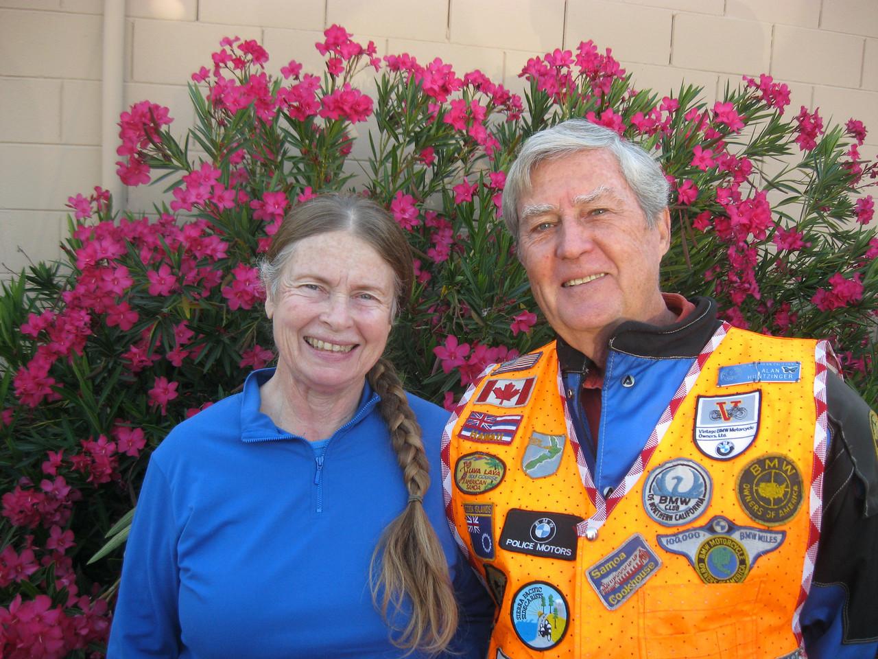 The lovely Carol and Alan Huntzinger.