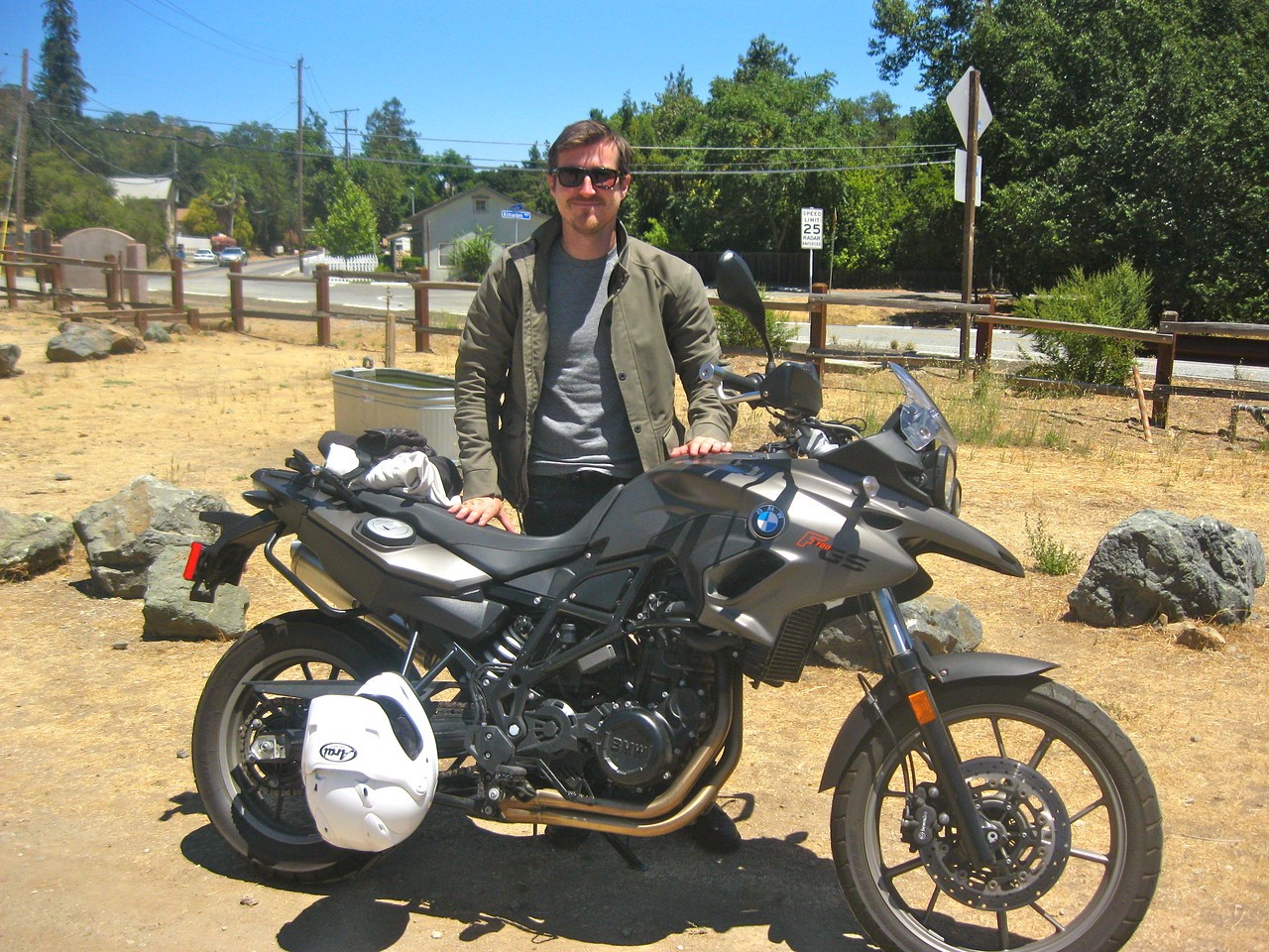 Wes Umner and his F700GS.