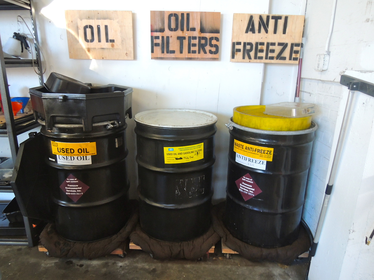 Recycling/Managing maintenance byproducts is important