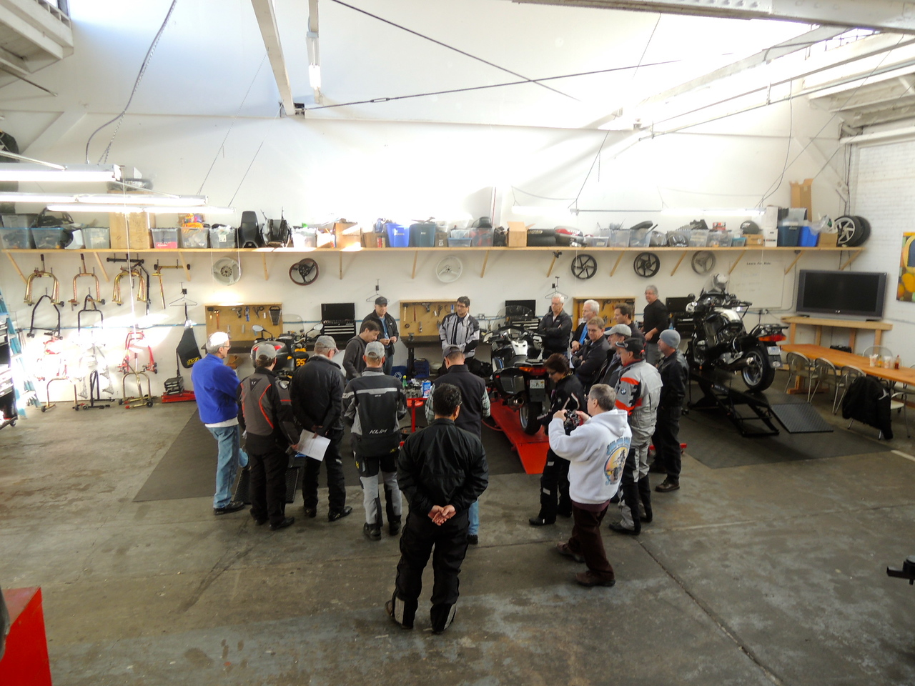 The periodic Brake Fluid Flush Tech session was well attended.