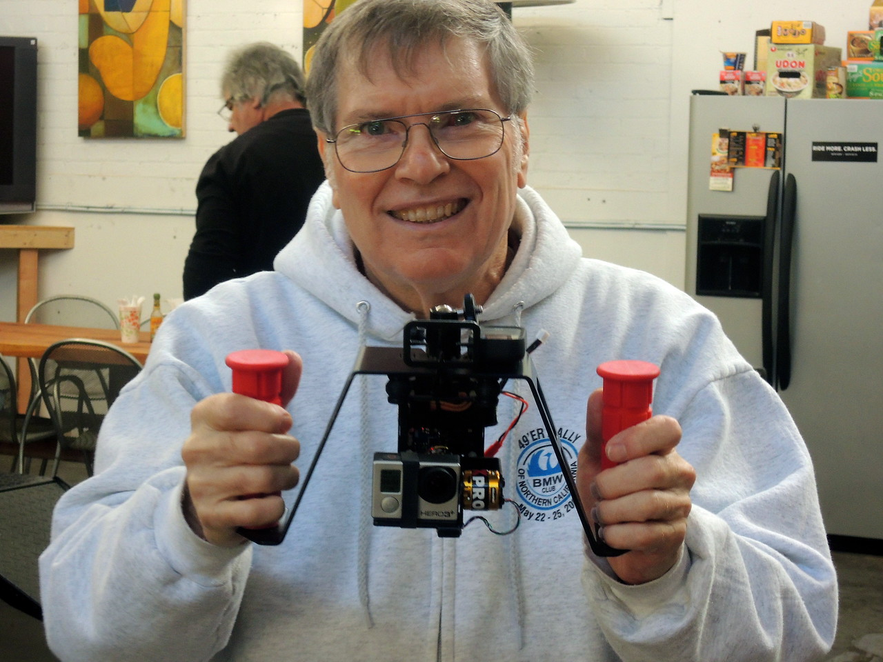 Rick Klain and his spiffy  X-Box controller converted into a gyroscope for his video camera.