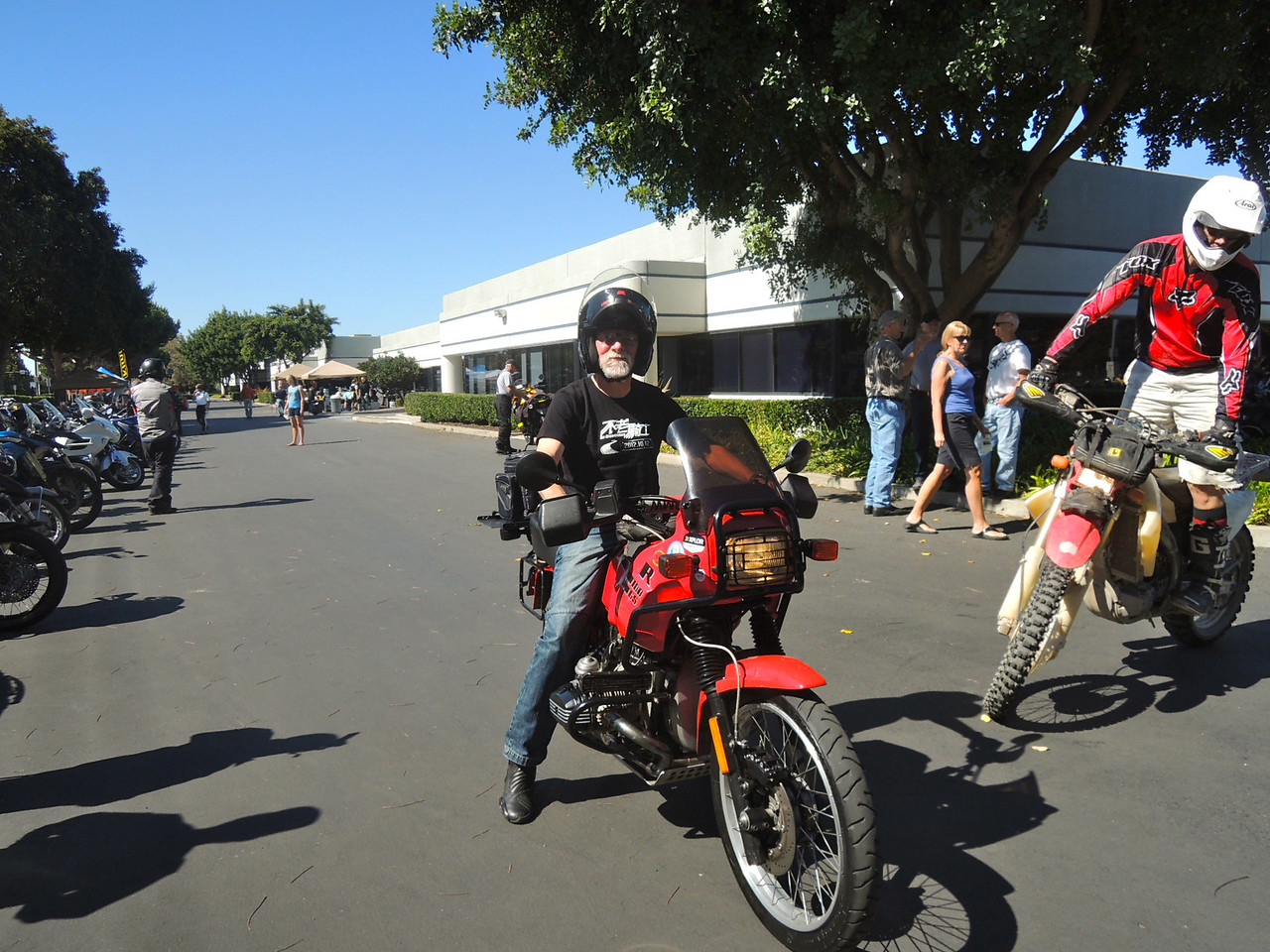 Norcal member, Chuck Brown, participates in the slow race.