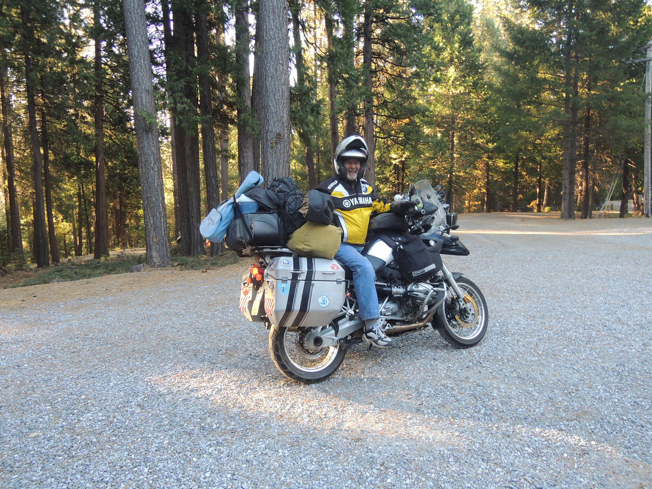 "John Notch missed the ""How to Pack Light"" seminar at Adventure Designs."