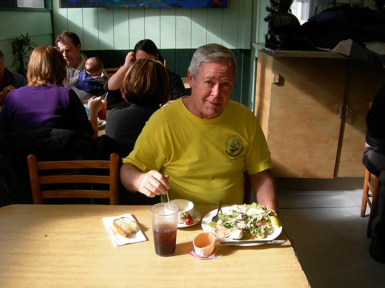Russ Drake enjoying lunch.
