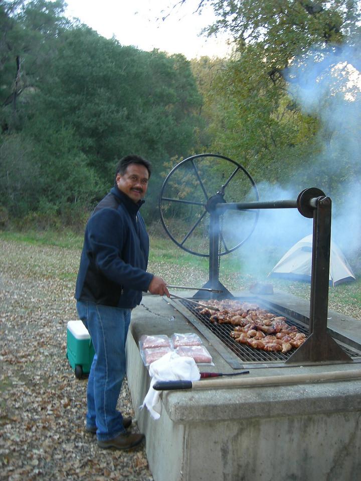 P'Bob knows his way around a BBQ!
