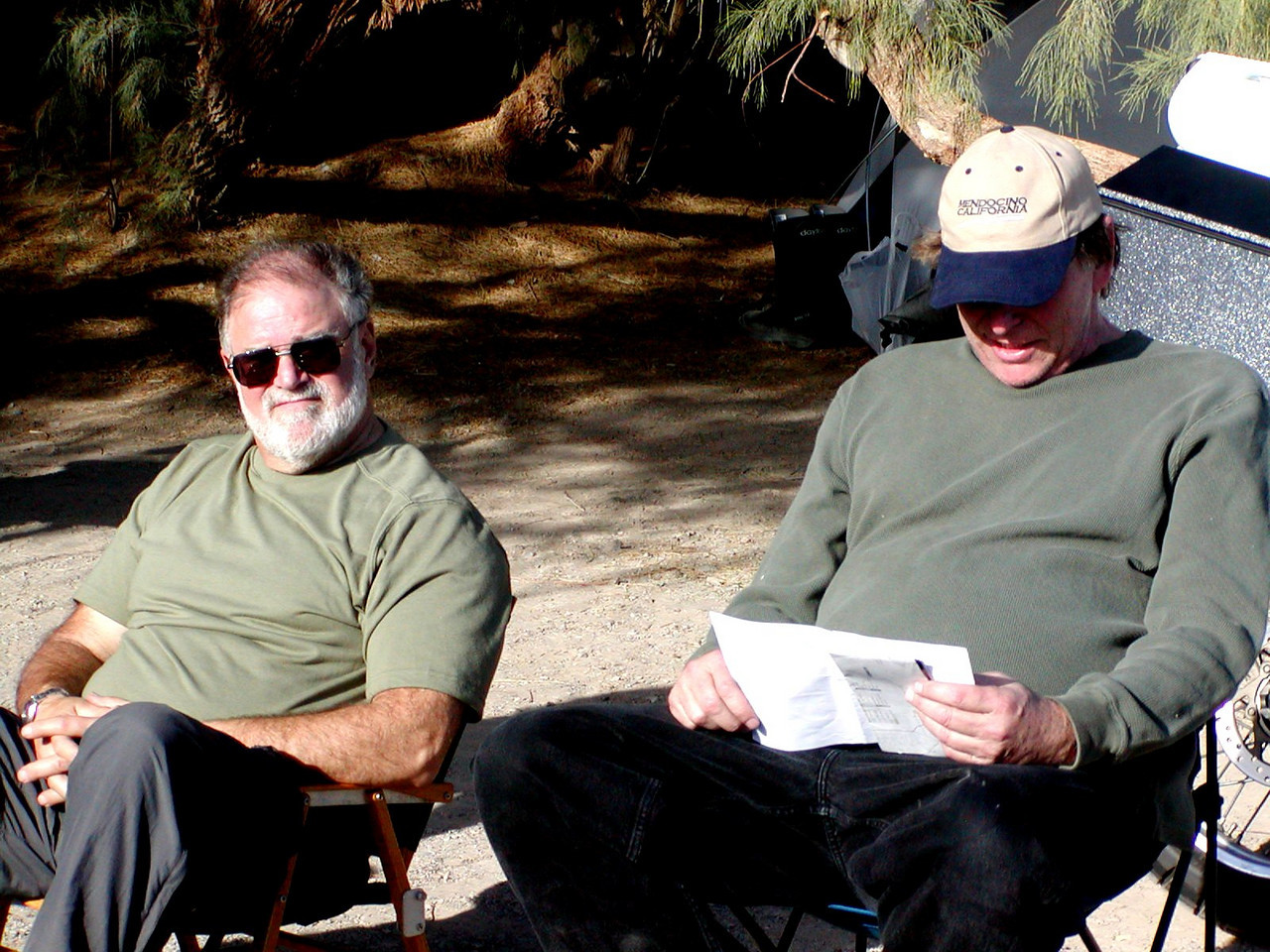 Bob Love (left) and David Halliwell. Bob is on his way to Baja after Death Valley.