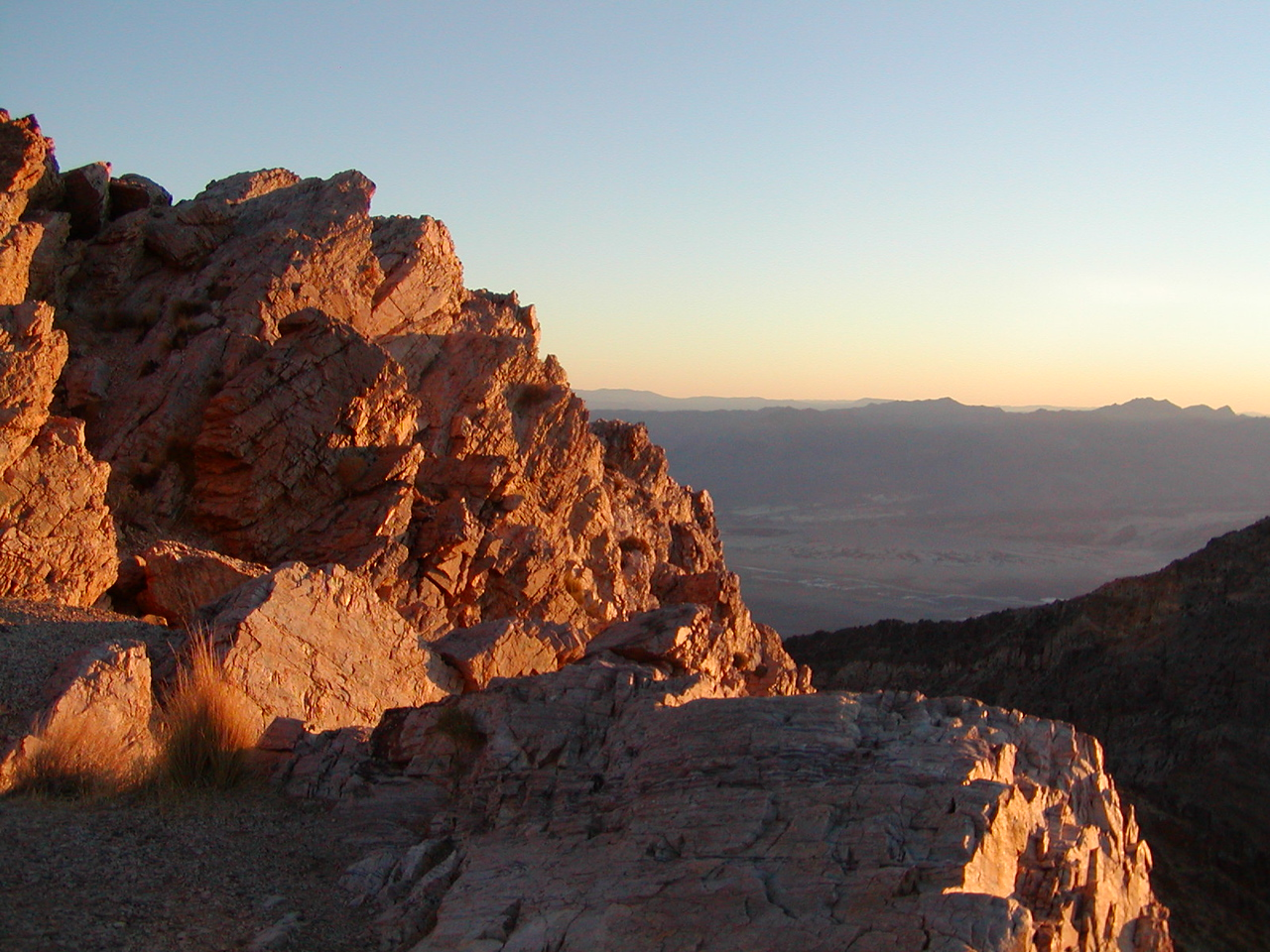 Looking east from Aguereberry Point at dawn