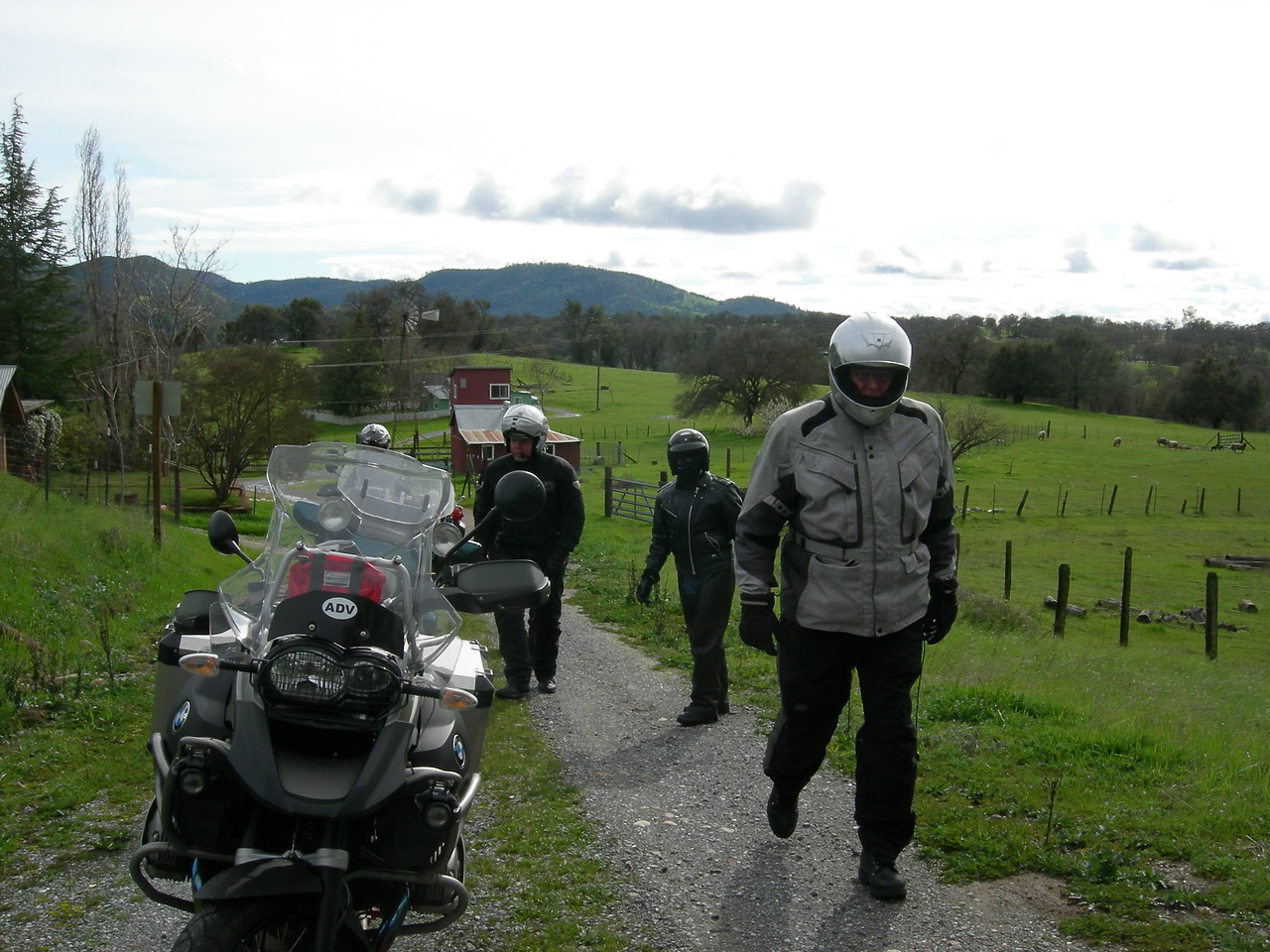 The group forged ahead but turned around due to the uncertainty of the road condition ahead.