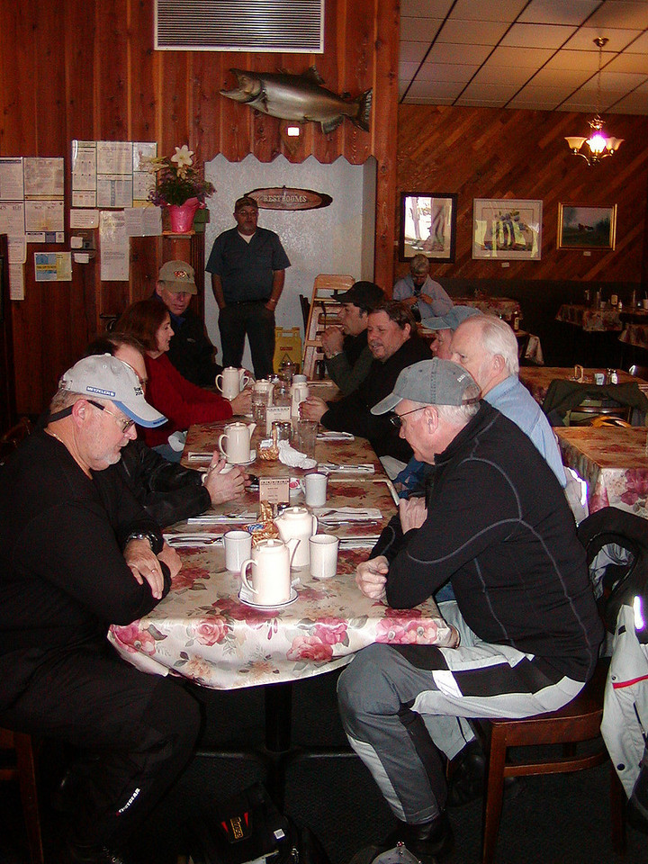 Tim Booth, Lee Blake, and others at the Water Wheel Restaurant