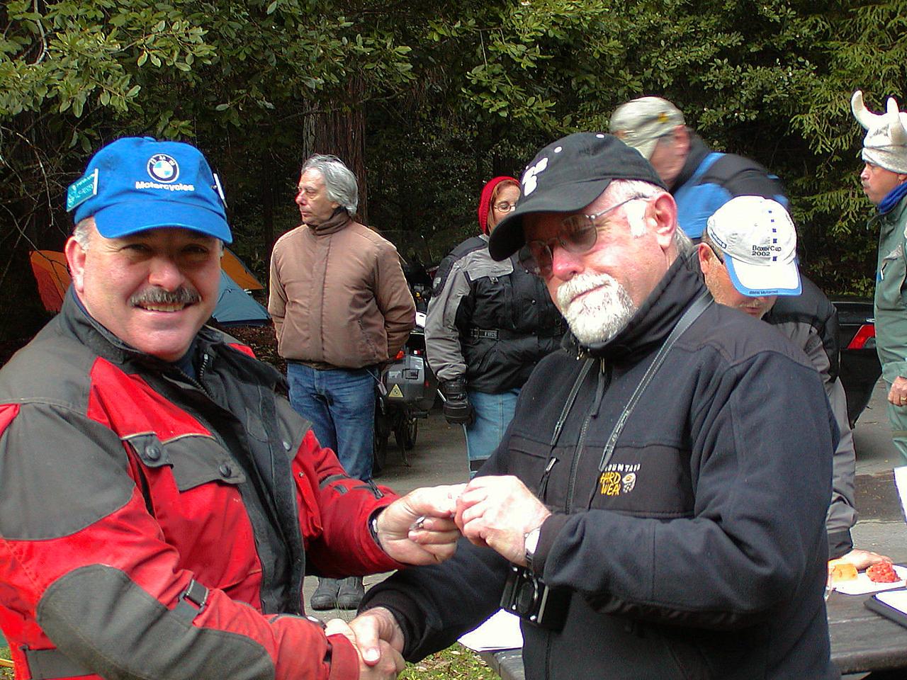 John Kabala receiving his 5-year pin from Ed Perry