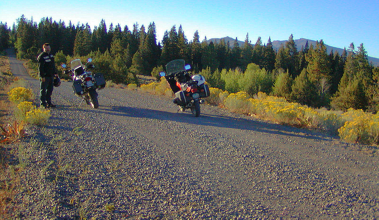 Roger Malone on the GS ride out of Cedarville