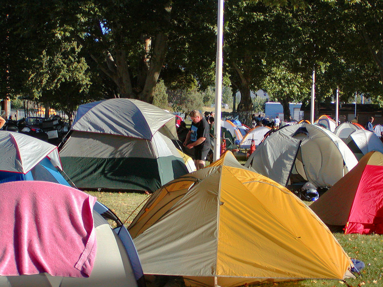Sea of tents in Yreka
