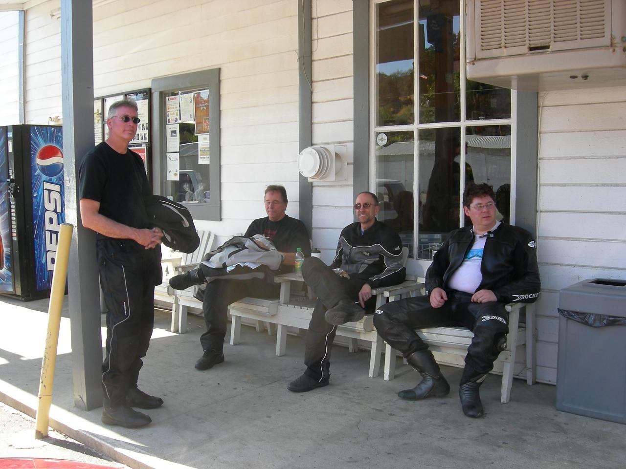 Mario, David, Bob and Ryan taking a break in Coppropolis.