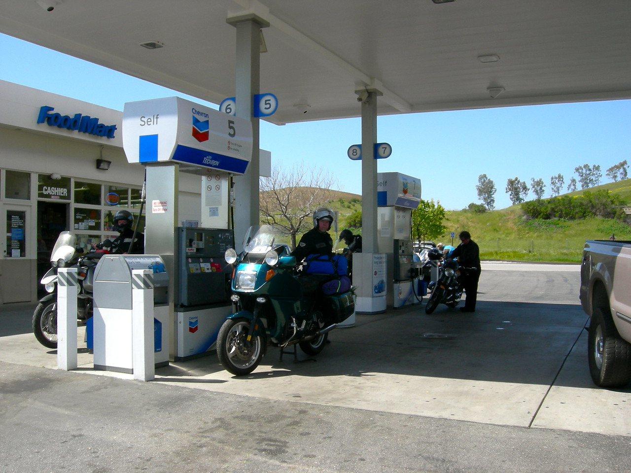 Gas stop in San Miguel.