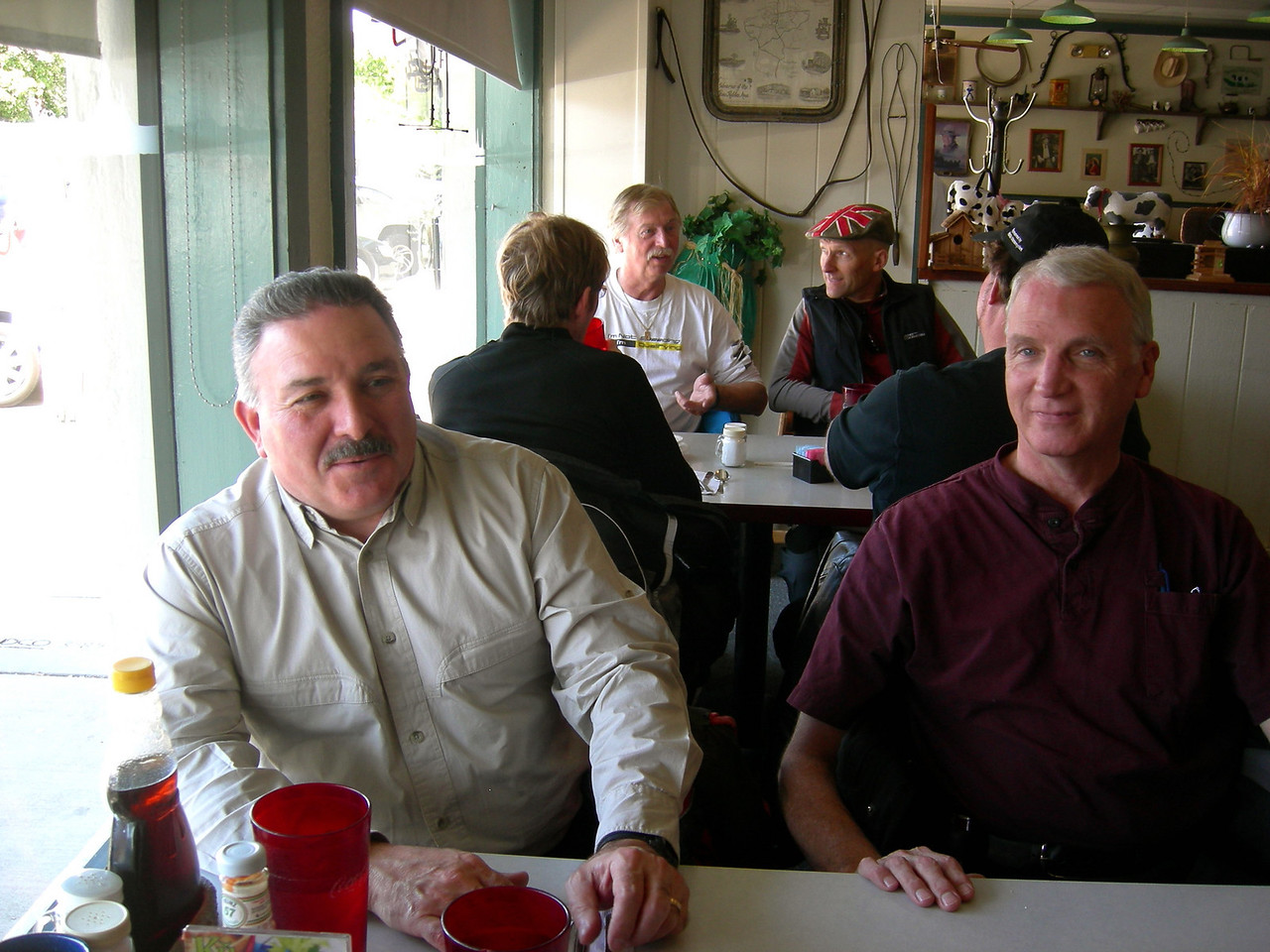 Ed Perry and Lee Blake are ready for lunch.