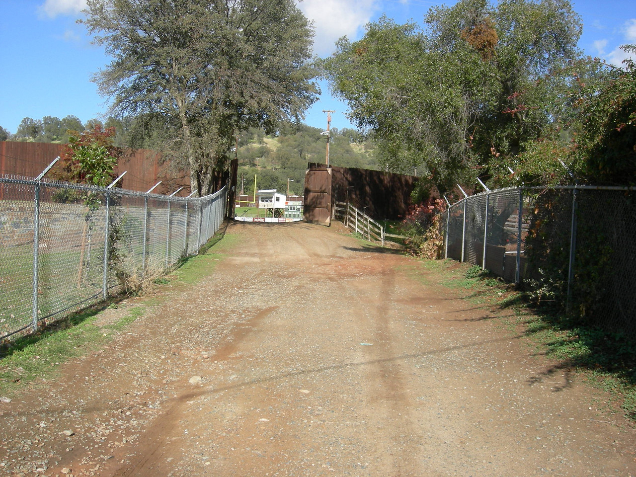 Access road to RV lot