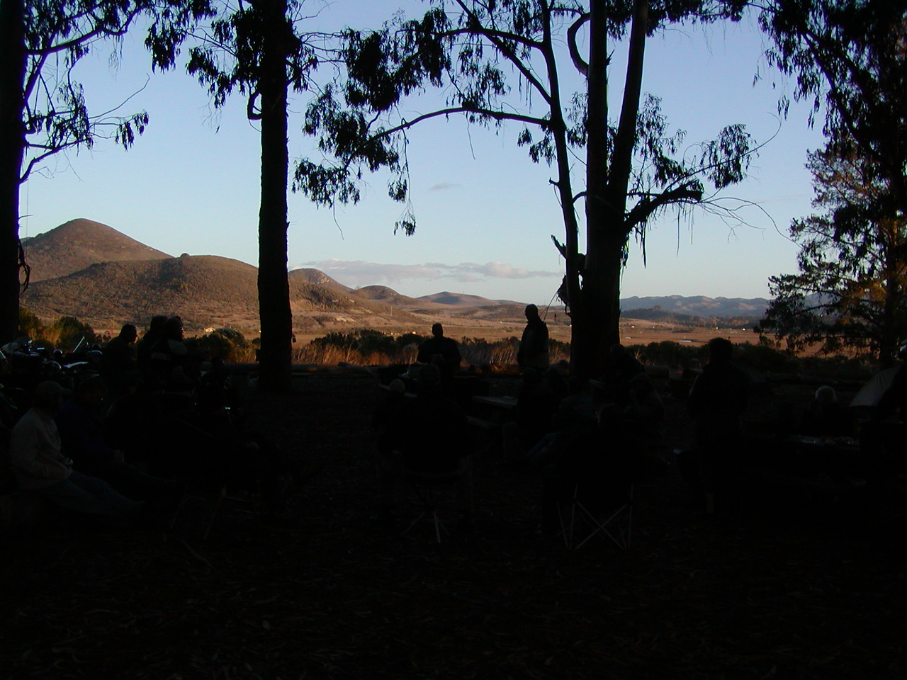 Background hills and sky from group campground looking East