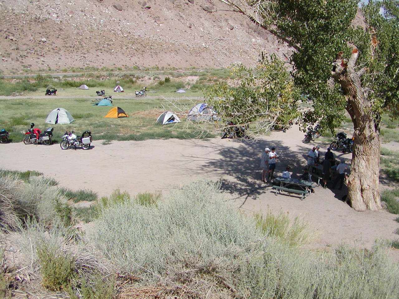 View from above the campground