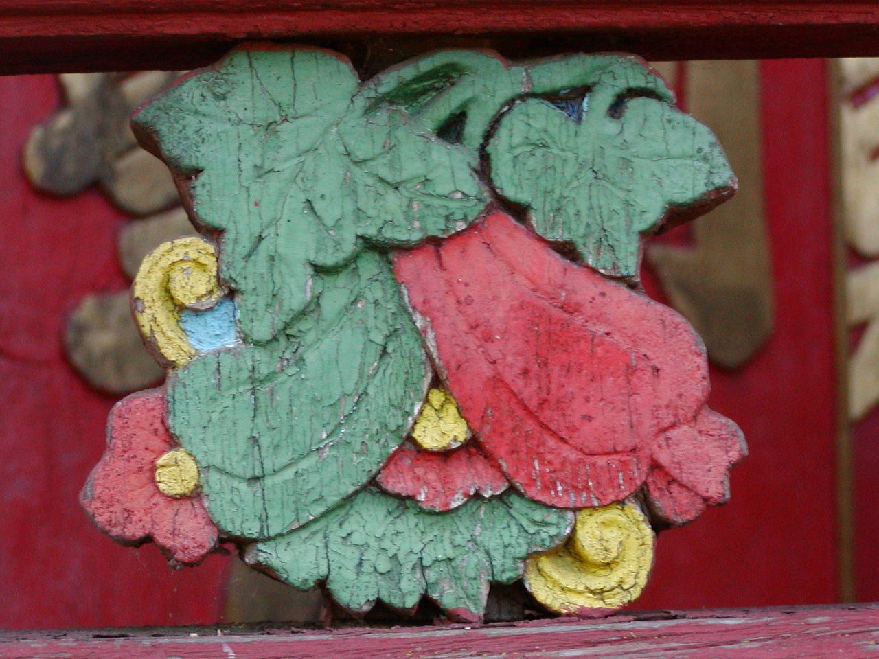 Joss House: Detail from front gate