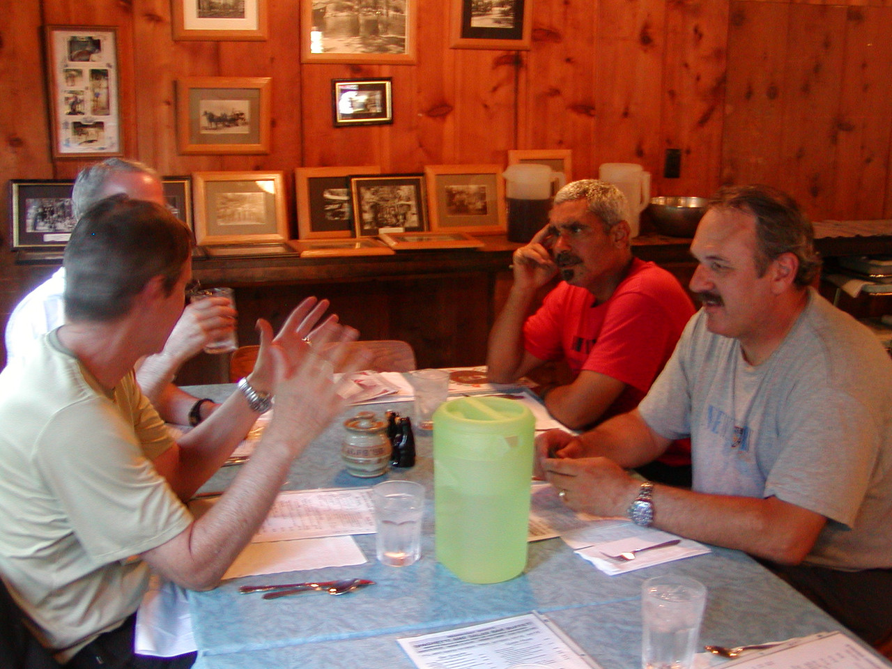 Animated conversation at Stony Creek Resort Bar and Grill
