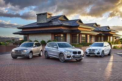 The first, second and third generations of the BMW X3.